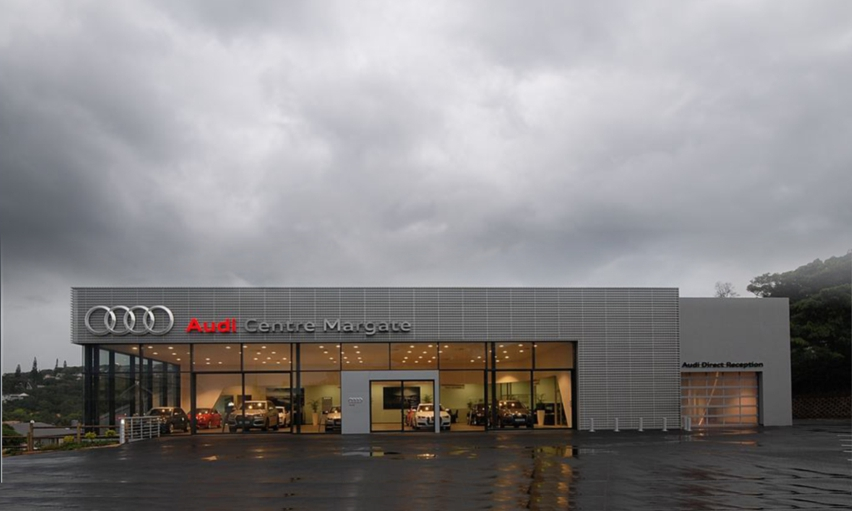 South Coast Vw >> TJ Architects South Africa - Retail & Showroom Architecture - Audi Centre - Margate